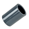 "1/2"" Schedule 80 Gray PVC Socket Coupling"