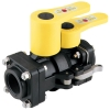 "1-1/2"" Polypropylene Dry-Mate® Ball Female & Male Valves"