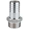 "1/2"" MNPT x 3/4"" Hose Barb 316 Stainless Steel Adapter"