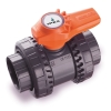 "1/2"" Socket/Thread PVC VXE Series True Union Ball Valve with EPDM Seals"