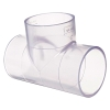 """1/4"""" Clear Schedule 40 PVC Tee"""