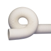 """12"""" RFH White Thermoplastic Rubber Reinforced Hose with Wire Helix"""