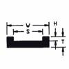 "UHMW Chain Guide ASA Chain #2080 (T = 1/2"", W = 2"", H = 1/4"", S = 1-9/16"")"