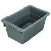 "17""L x 11""W x 8""H Gray Cross-Stack Akro-Tub"