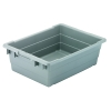 "24""L x 17""W x 8""H Gray Cross-Stack Akro-Tub"