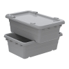 "25""L x 16""W x 8-1/2""H Gray Cross-Stack Akro-Tub"