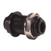 10mm Tube OD Black Bulkhead Union