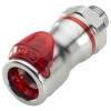 3/8 SAE-06 LQ6 Chrome Plated Brass Valve Body - Red (Insert Sold Separately)
