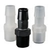 "1/16"" Tube ID x 1/16"" NPT Natural Polypropylene Threaded Adapter"