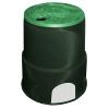 "Carson® 6"" Round TrussT Valve Box - Black & Green"