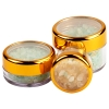 .2 oz./6mL Clear Acrylic Jars with Clear Gold Trim Cap