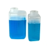 64 oz. Heavy Duty Natural Rectangular Graduated Bottle with 58/400 Neck (Cap Sold Separately)