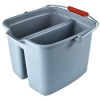 "17 Qt. Divided Bucket,  13-7/8"" L x 14-5/8"" W x 10-1/8"" Hgt."