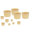 "38D Versilic® Silicone Stoppers - 1.221"" Top/1.497"" Bottom Dia. x 1.379"" Hgt."