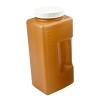 2000mL Amber Kartell Square Bottle with 75mm Cap
