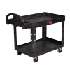 "Rubbermaid® Beige 2-Shelf Utility Cart 39-1/4""L x 17-7/8""W x 33-1/4""H"