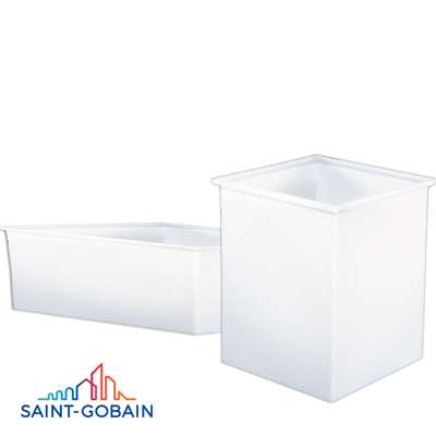 "2 Gallon, 8"" x 8"" x 8"" Square Polypropylene Tank with Cover"