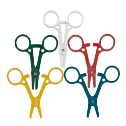 Nylon Dispensing Tube Occluding Clamps in Assorted Colors — Package of 10