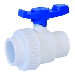 "1-1/2"" Socket PVC Single Union Ball Valve"