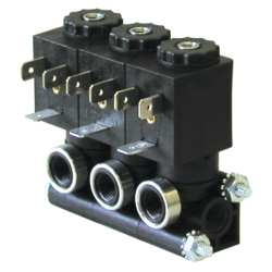 1.5mm 3-Way Stackable Composite Solenoid Valve with 120 VAC