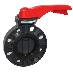 """2"""" PVC Lever Butterfly Valve with EPDM Liner & Seals"""