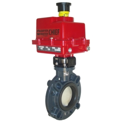 "2-1/2"" Type 57 Butterfly Valve with Series 92 Electric Actuator"