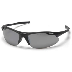 Black Frame/Silver Mirror Lens Avante Safety Glasses