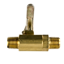 "1/4"" MNPT X 1/4"" MNPT Series 027 Brass Ball Valve with Buna-N Seals"