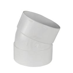 """4"""" White PVC 1/16 Bend Ell"""