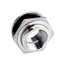 "3/8"" Stainless Steel Bulkhead w/EPDM Gasket - 1"" Hole Size"