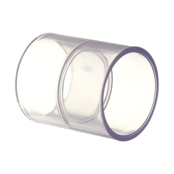 "1-1/4"" Clear Schedule 40 PVC Slip Coupling"