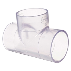 "1/4"" Clear Schedule 40 PVC Tee"