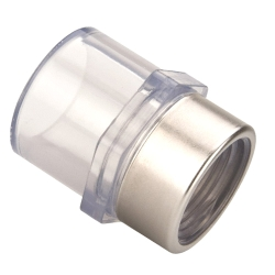 "3/8"" Clear Schedule 40 PVC Adapter FPT x Slip"