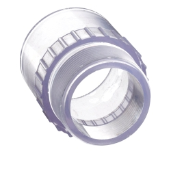 "2"" Clear Schedule 40 PVC Male Adapter"