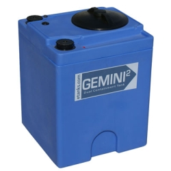 "Gemini2 20 Gallon Blue Square Dual Containment Tank - 18""L x 18""W x 24""H"