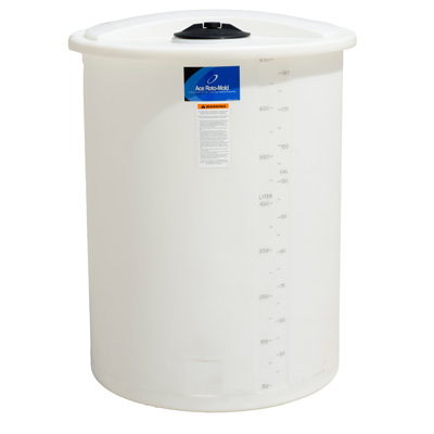"145 Gallon White Closed Top Vertical Batch Tank 36"" x 40"""