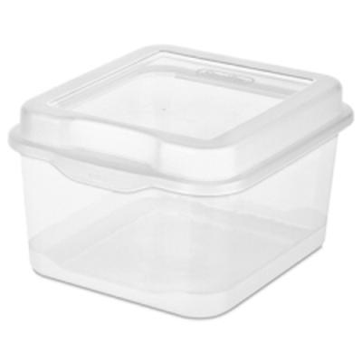 """Small Clear Sterilite® FlipTop Storage Box - 7-5/8"""" L X 6-1/2"""" W X 4-1/2"""" H"""
