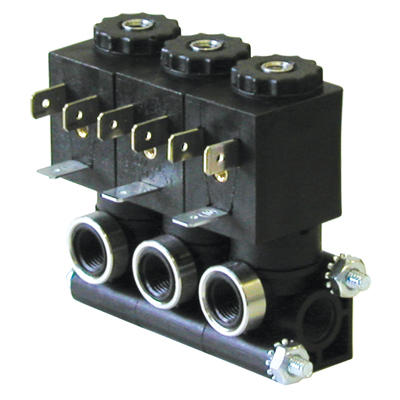 1.5mm 2-Way Spaded Stackable Composite Solenoid Valve with 24 VDC