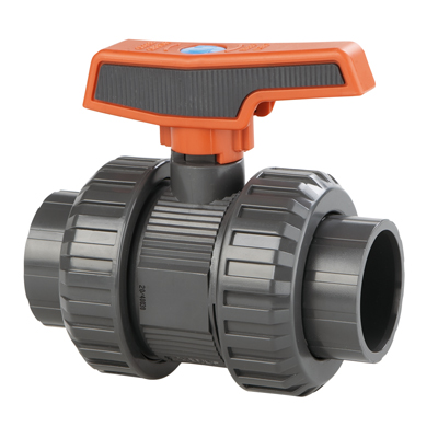 "1-1/2"" Threaded/Socket ST Series PVC Ball Valve with EPDM O-rings"