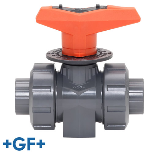 "1/2"" Metering PVC Ball Valve with FPM Seals"