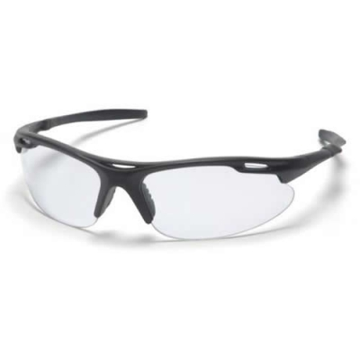 Black Frame/Clear Lens Avante Safety Glasses