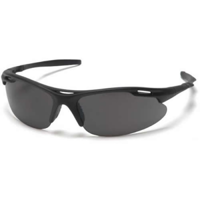 Black Frame/Gray Lens Avante Safety Glasses