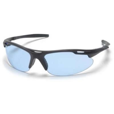 Black Frame/Infinity Blue Lens Avante Safety Glasses