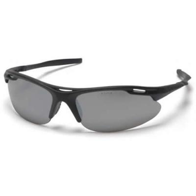 Black Frame/Silver Mirror Lens Avante Safety Glasses
