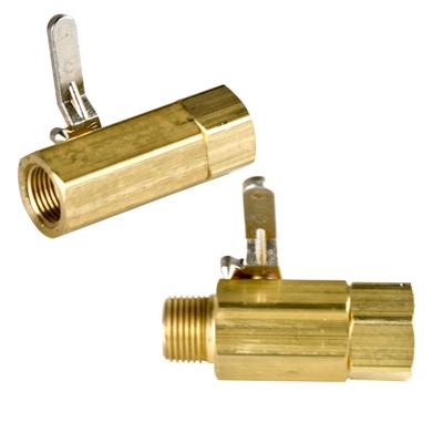 """3/8"""" FNPT x 3/8"""" FNPT Two-way 038 Brass Valve with Viton™ Seals"""