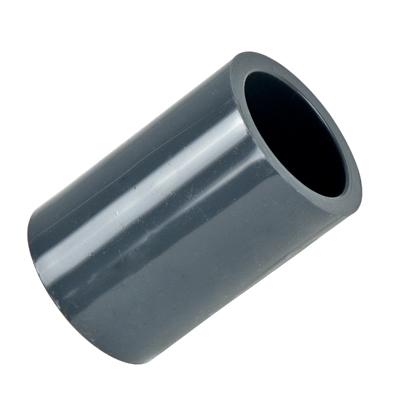 "1-1/4"" Schedule 80 Gray PVC Socket Coupling"
