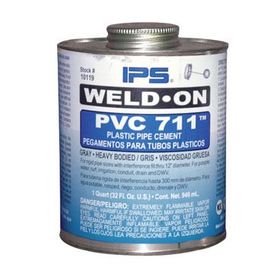 Pint Gray IPS® Weld-On® 711™ PVC Cement