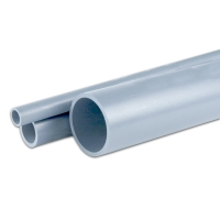 "6"" CPVC SCH 80 Plain End Gray CPVC Pipe"