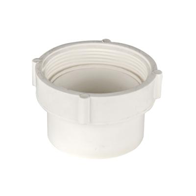 "4"" White PVC Female Pipe Thread Spigot Cleanout Adaptor"