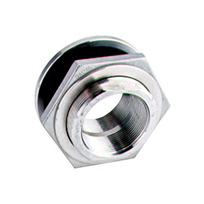 "1/2"" Stainless Steel Bulkhead w/EPDM Gasket - 1-3/8"" Hole Size"